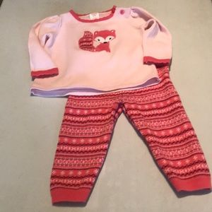 Gymboree 2pc sweater outfit